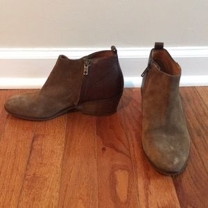 MADEWELL suede and leather bootie